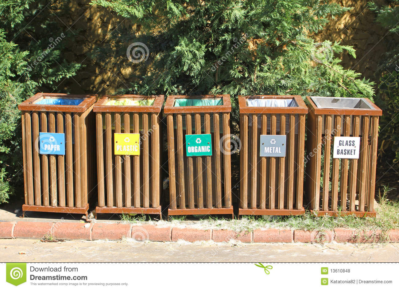 Recycle Bins For Waste Segregation Royalty Free Stock