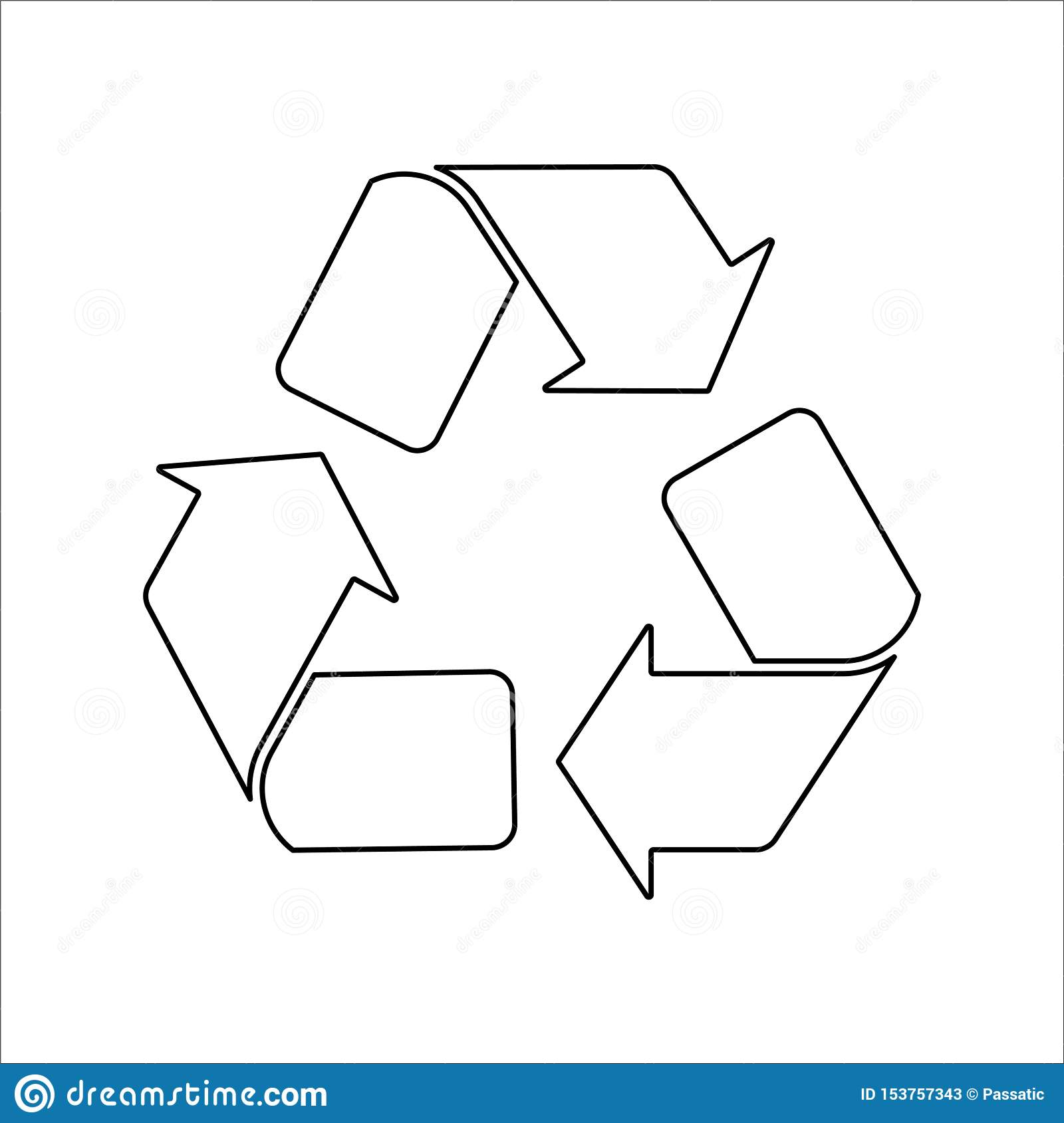 Recycle black icon on white background vector