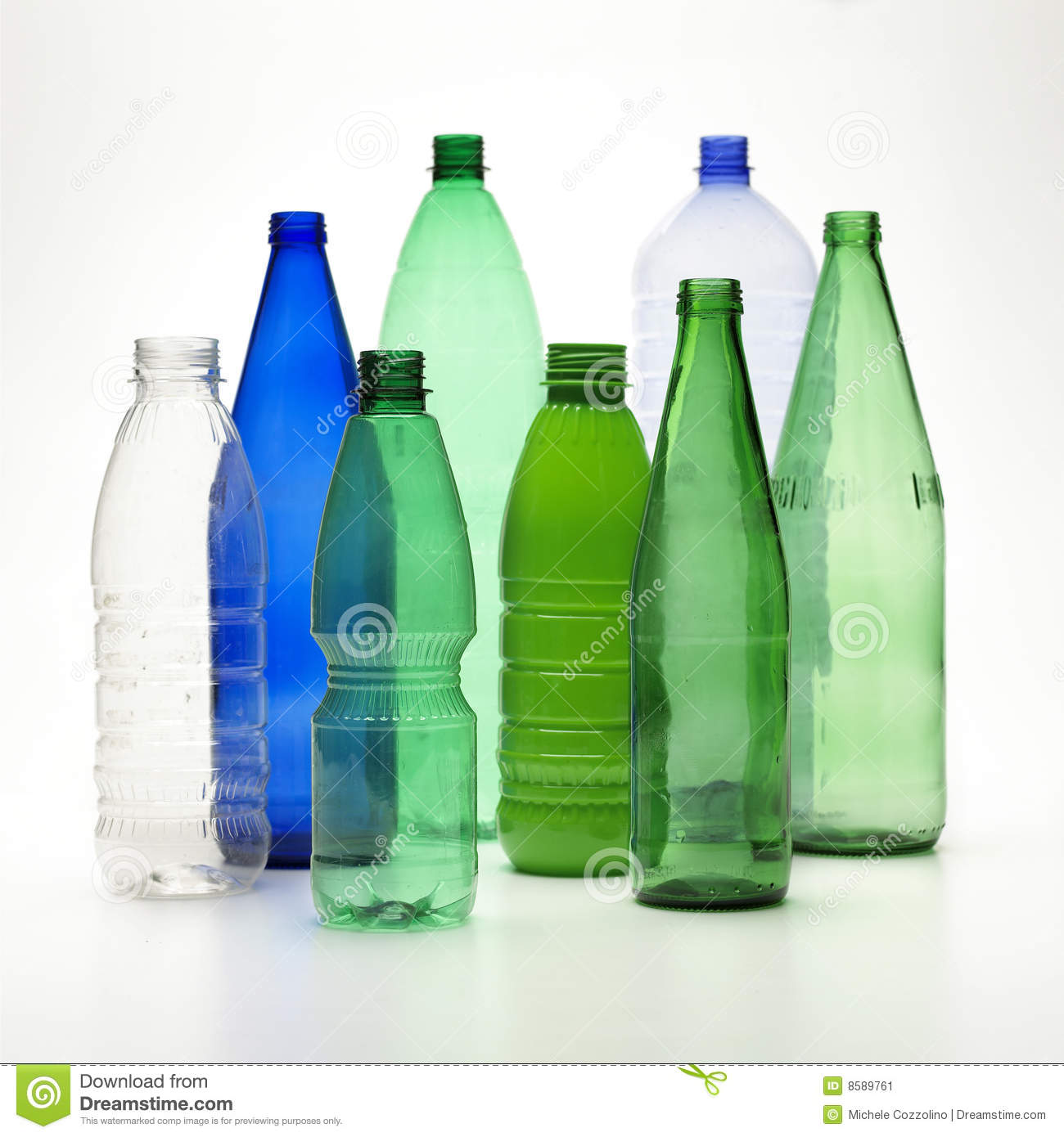 Recycle Bottles Stock Image - Image: 8589761