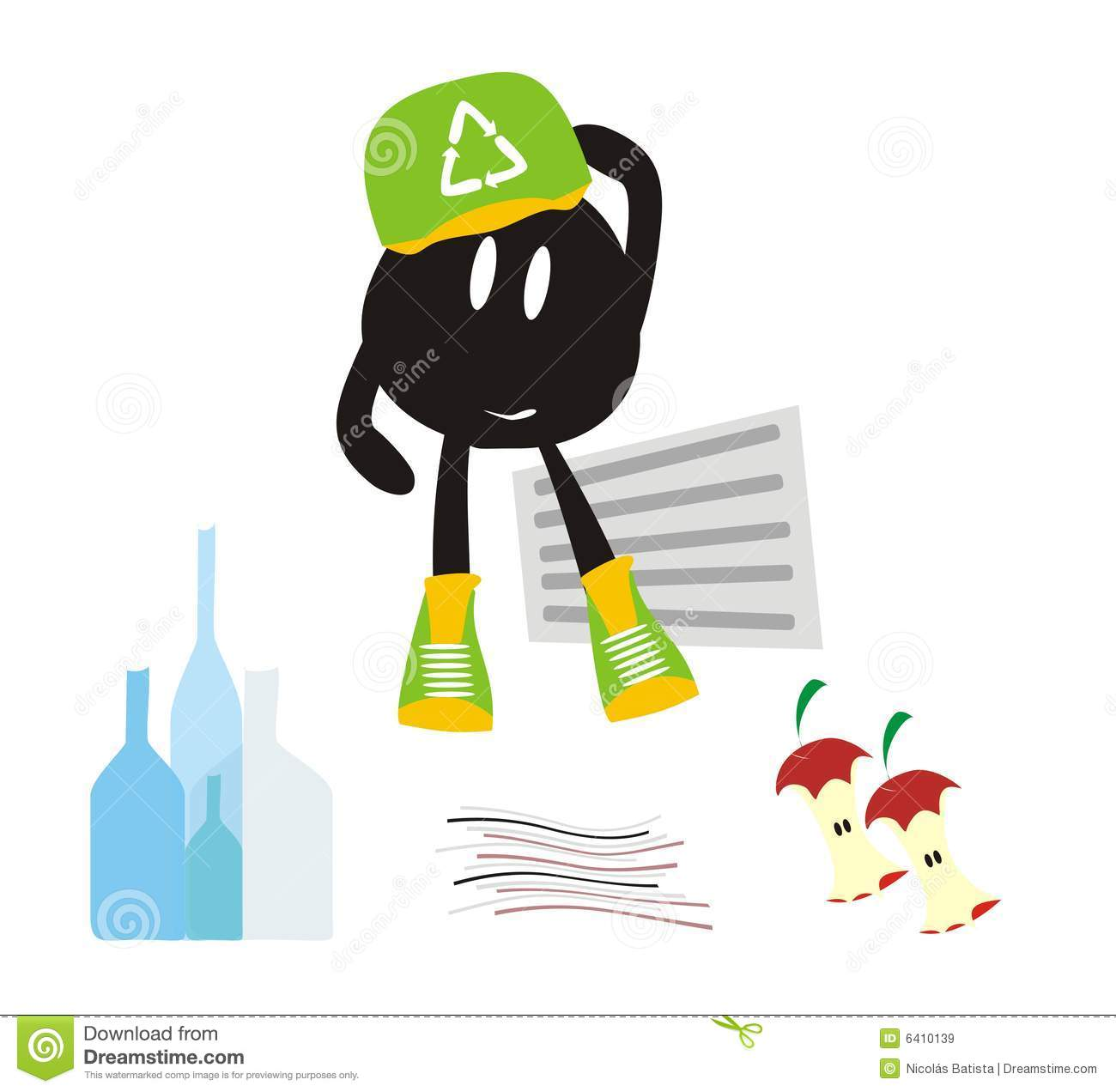 Recycle Cartoon Royalty Free Stock Images Image 6410139