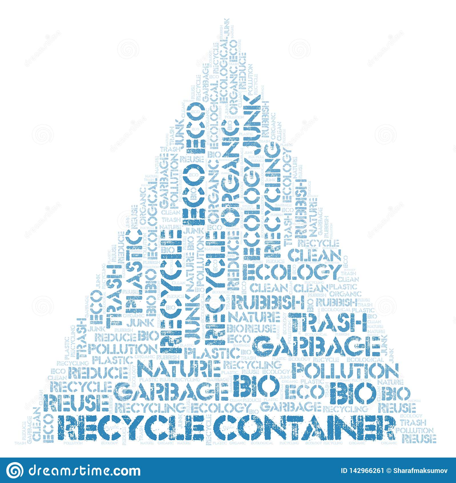Recycle Container word cloud