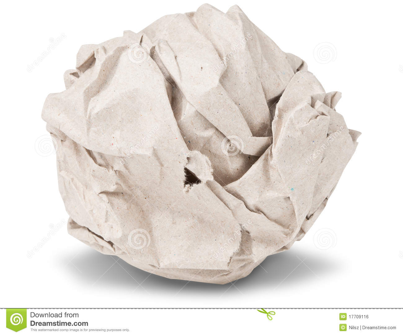 recycle crumpled paper ball stock photo - image of ball, page: 17709116