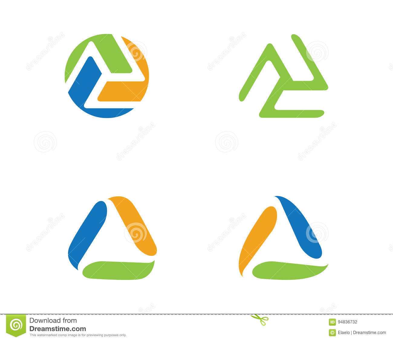 recycle eco logo template stock vector illustration of green 94836732