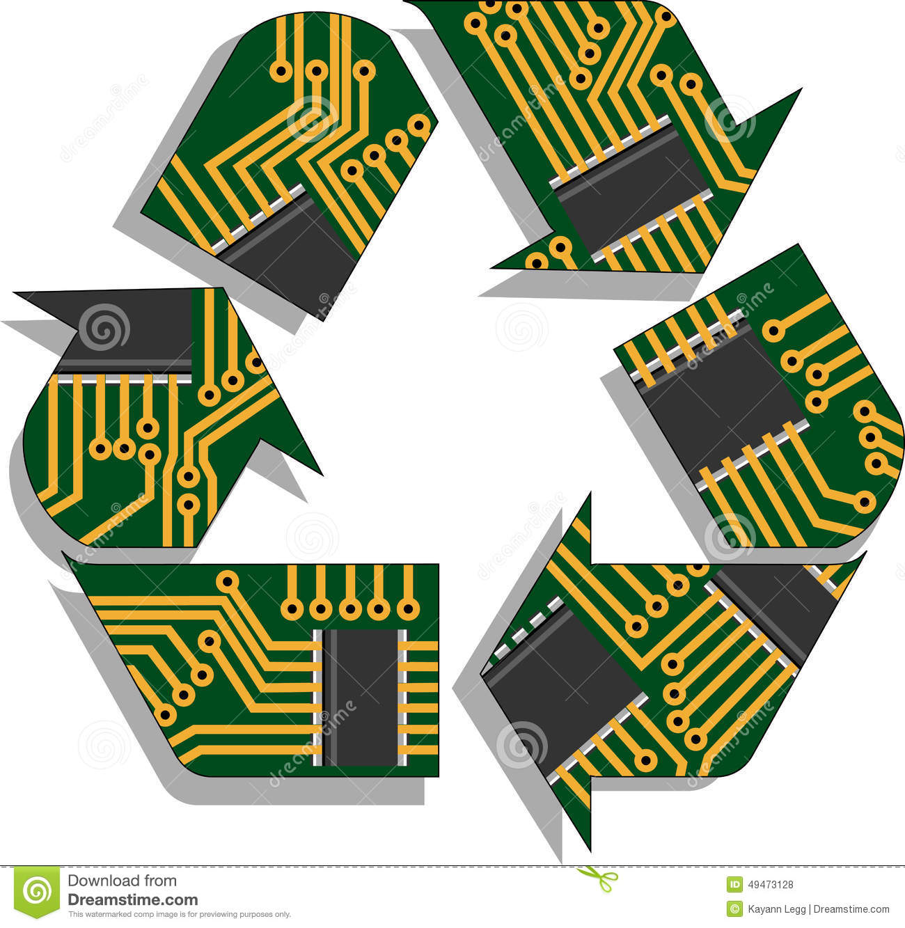 Snap Circuit Board Stock Vector Illustration Of Electronic Clipart Computer K3811151 Search Clip Art Recycle Electronics Equipment 49473128