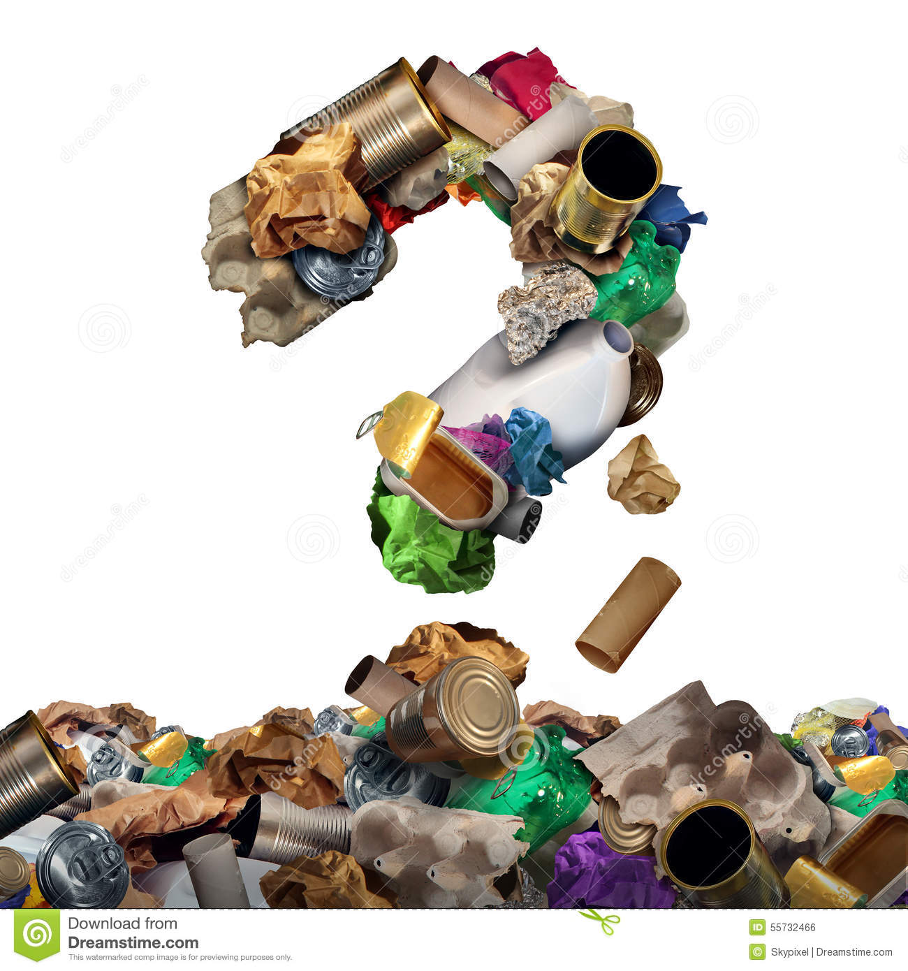 Recycle Garbage Question Stock Illustration Image 55732466