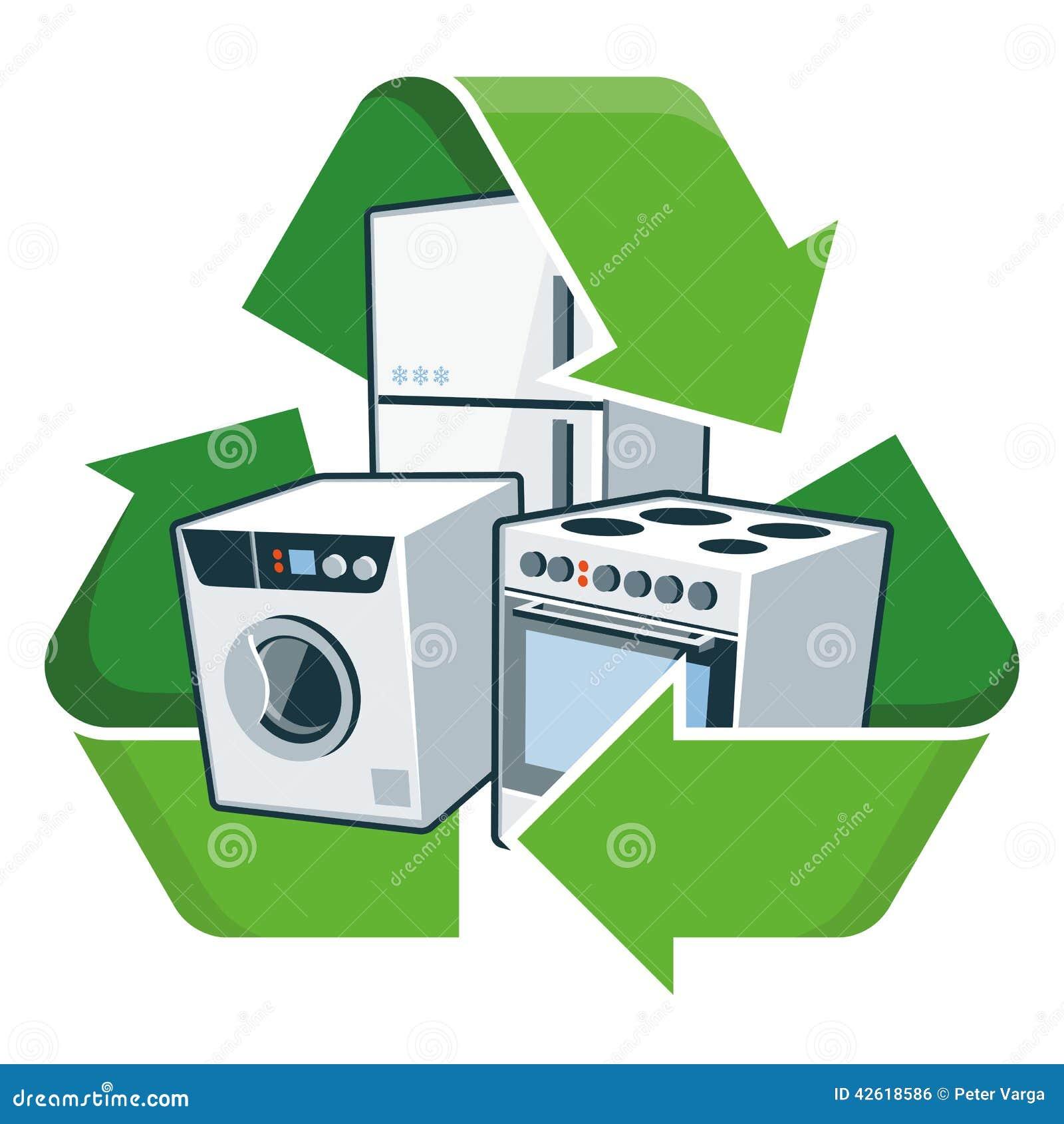 Recycle large electronic appliances stock vector illustration of recycle large electronic appliances buycottarizona