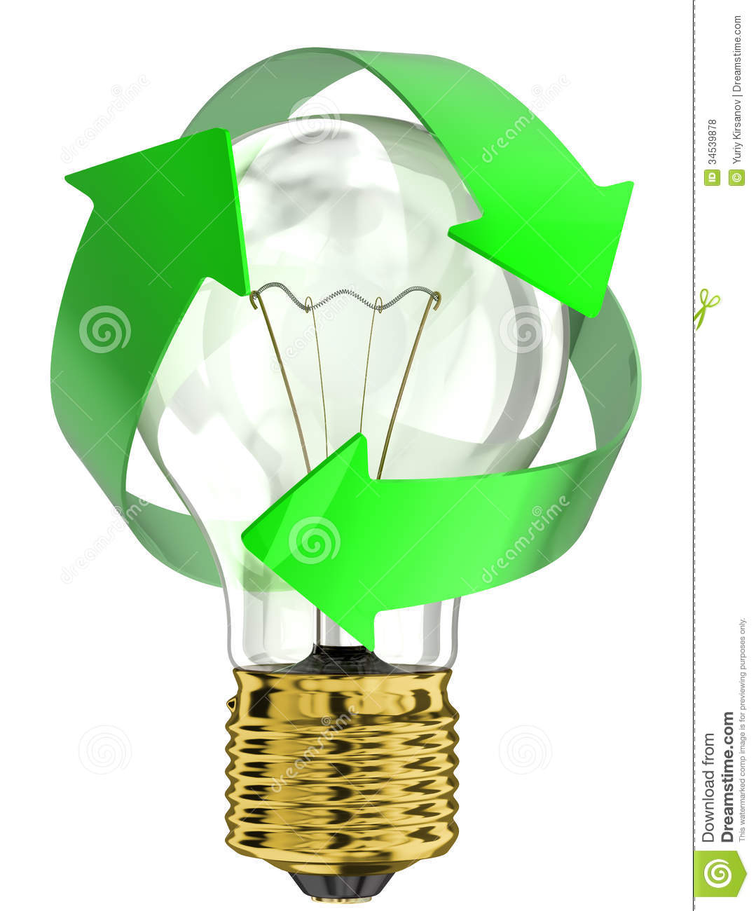 Awesome Recycle Light Bulb Amazing Design