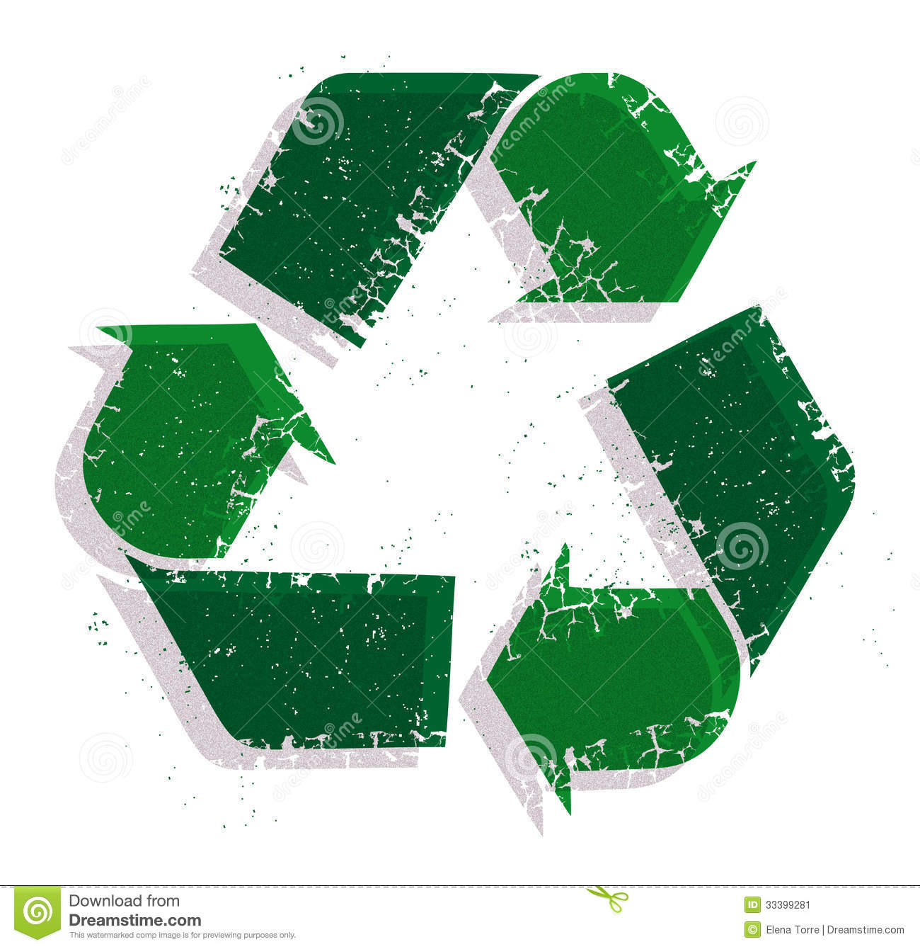 Recycle vector logo isolated on white background.