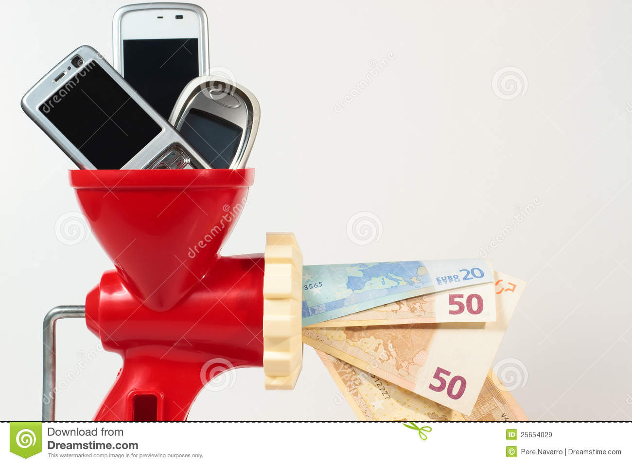 Recycle mobile phone get money stock image image 25654029 - Recycling mobel ...
