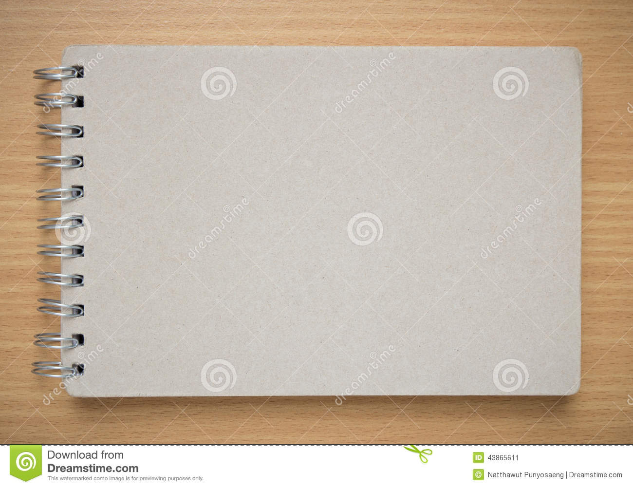 Notebook Cover Background : Recycle notebook cover on the desk stock photo image