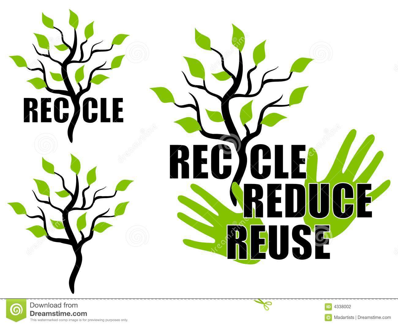 Recycle Reduce Reuse Green Tree