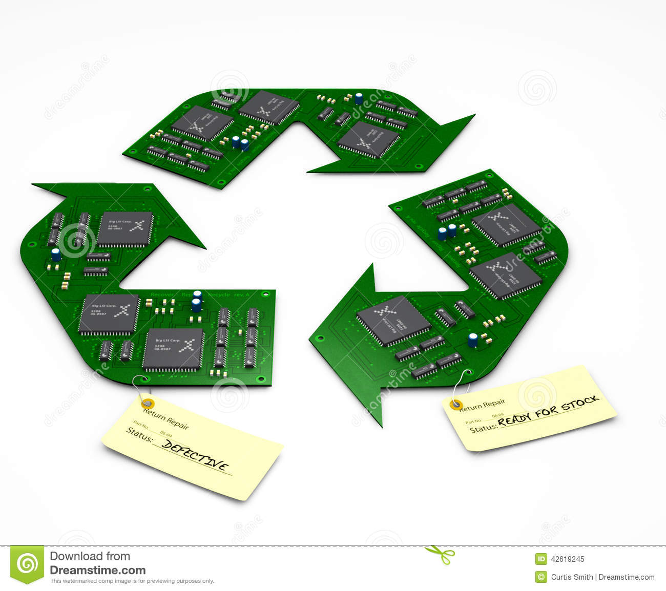 Recycle and Repair electronic circuit boards