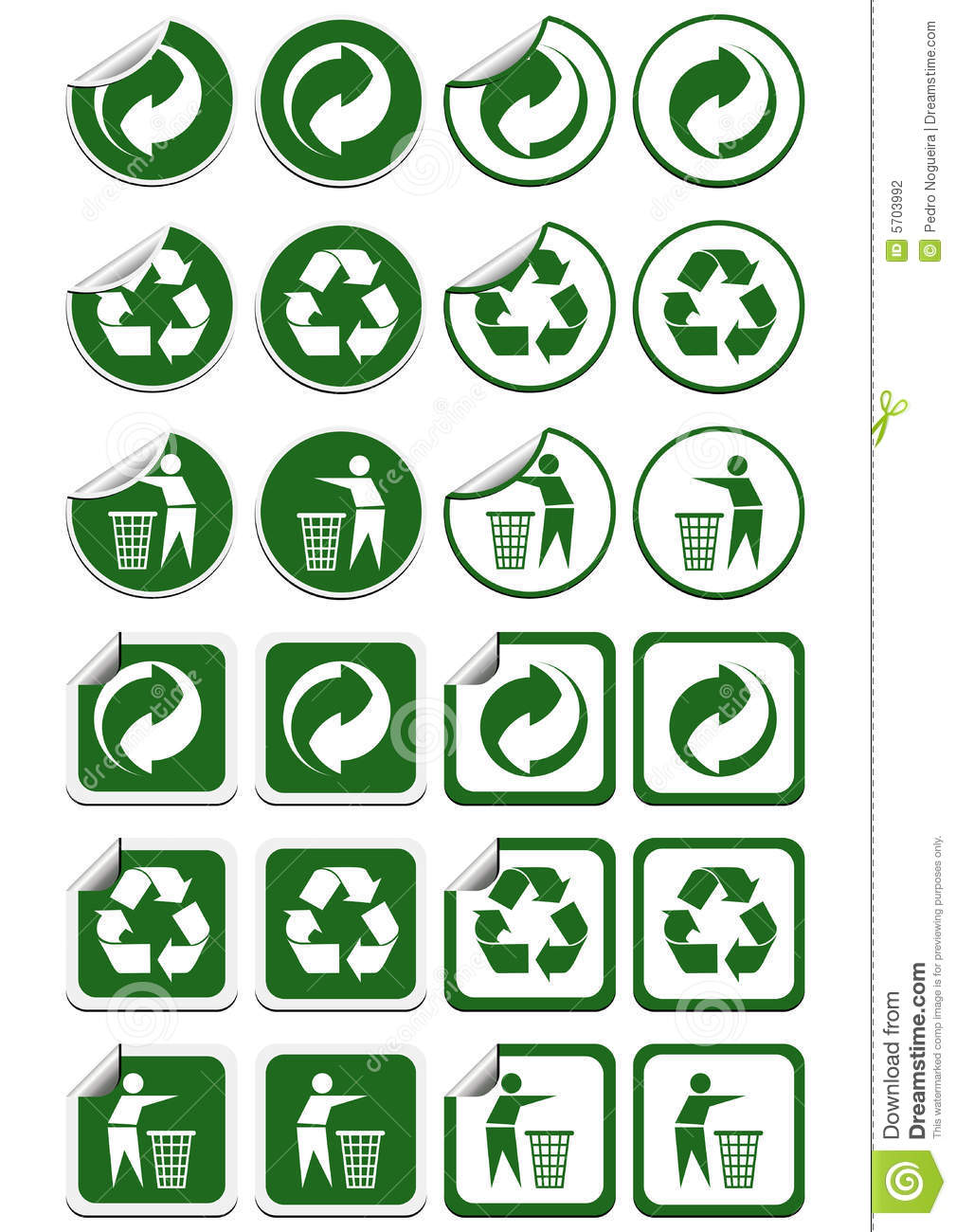 Recycle Stickers Stock Vector Illustration Of Advertising 5703992