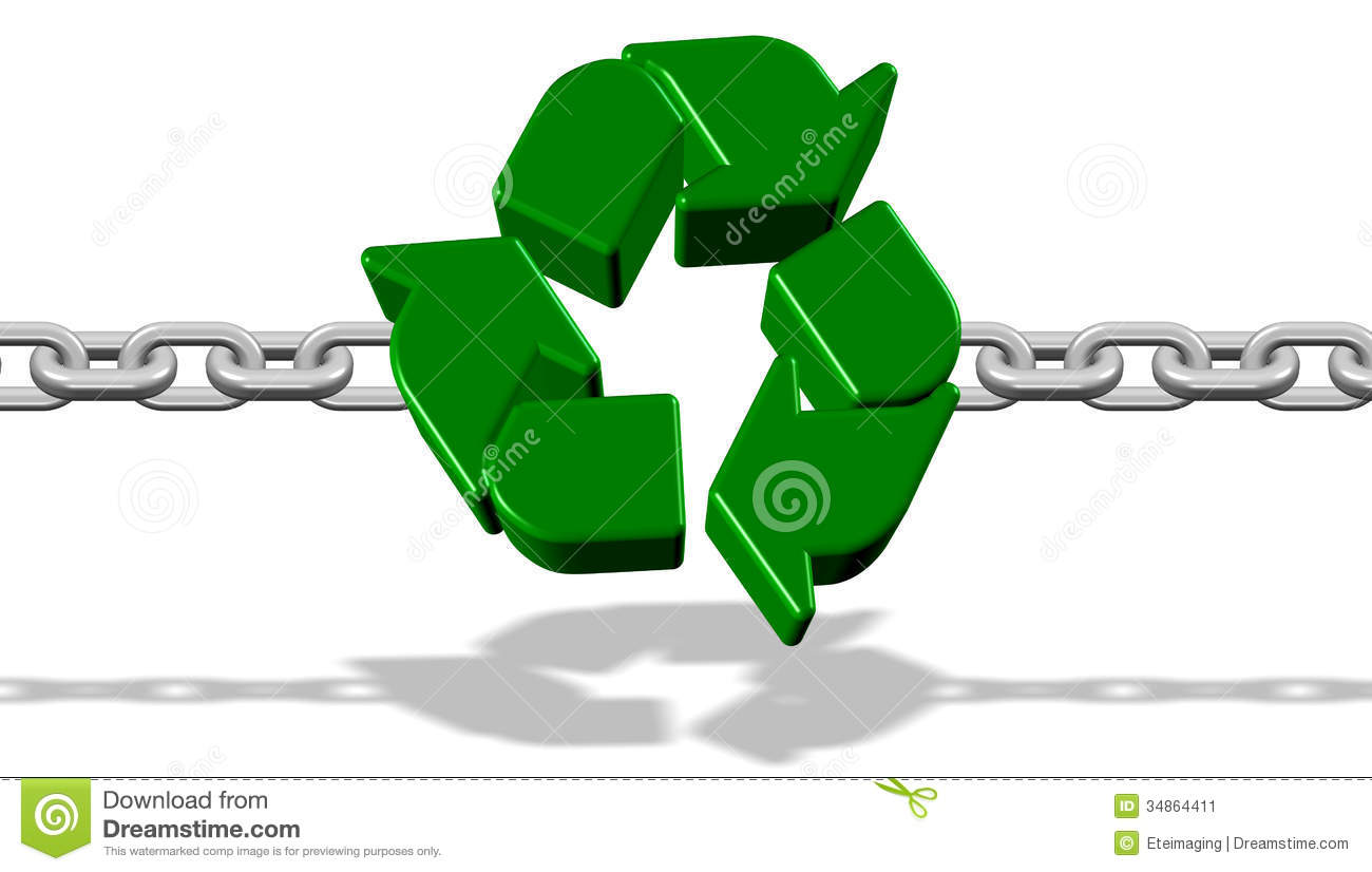 Recycle Strong Link Stock Image - Image: 34864411