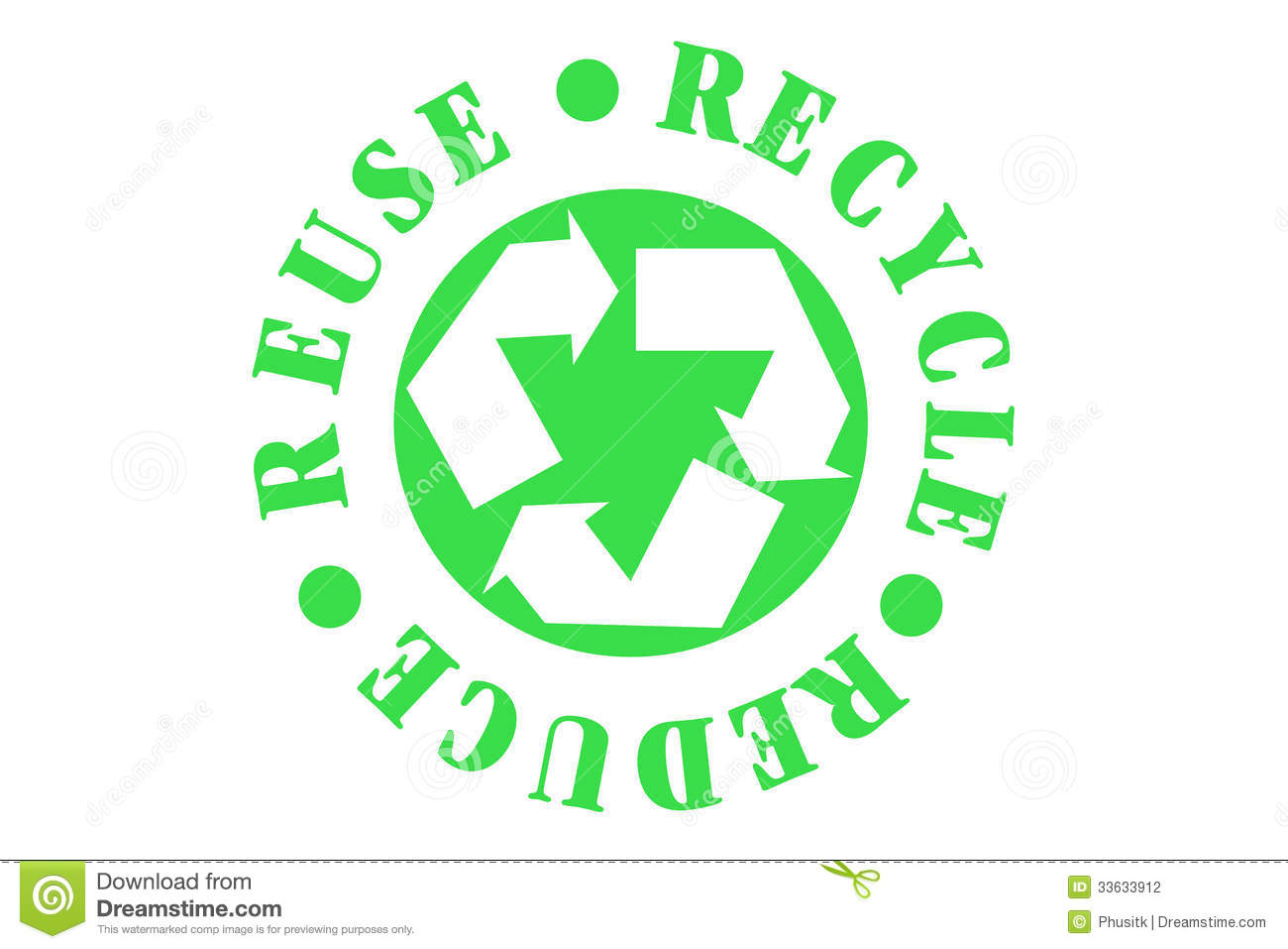 Recycle Symbol Stock Vector Illustration Of Cycle Garbage 33633912