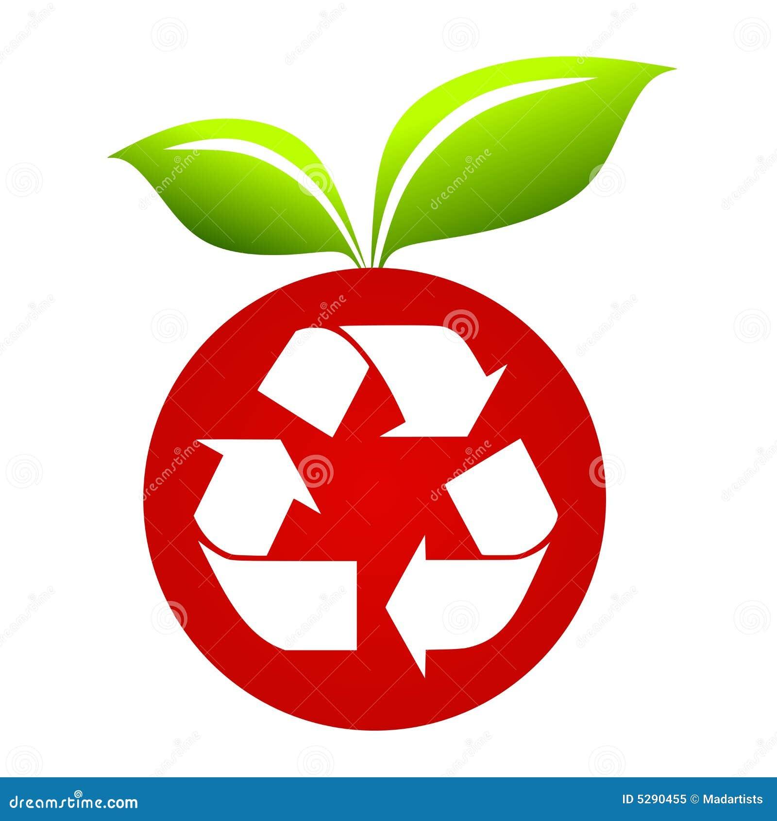 Recycle symbol on apple stock illustration illustration of recycle symbol on apple royalty free stock photo buycottarizona