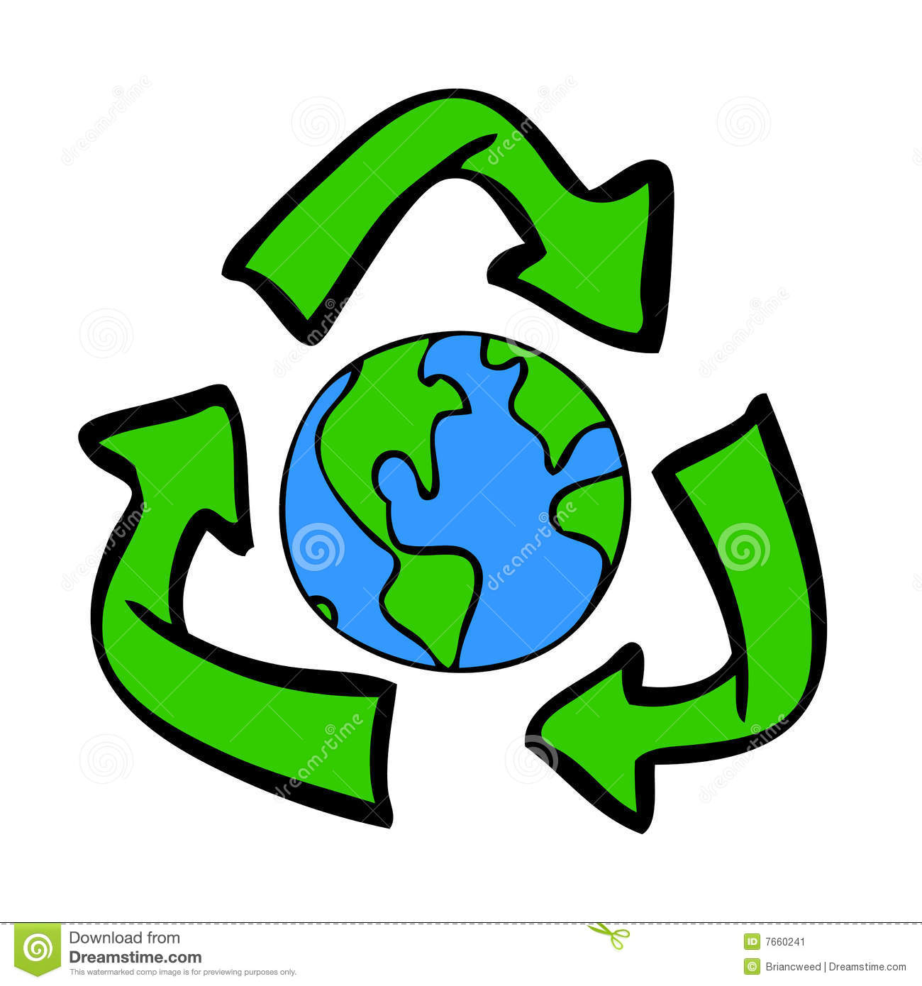 Recycle Symbol With Earth Stock Illustration Illustration Of