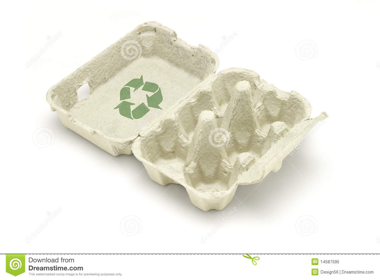 recycle symbol on egg carton royalty free stock photo