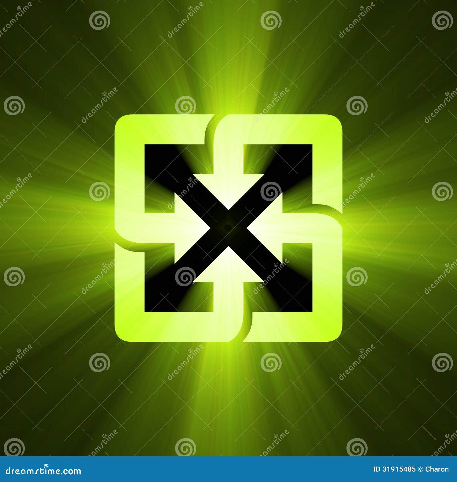 Recycle symbol green light flare stock illustration illustration recycle symbol green light flare buycottarizona Choice Image