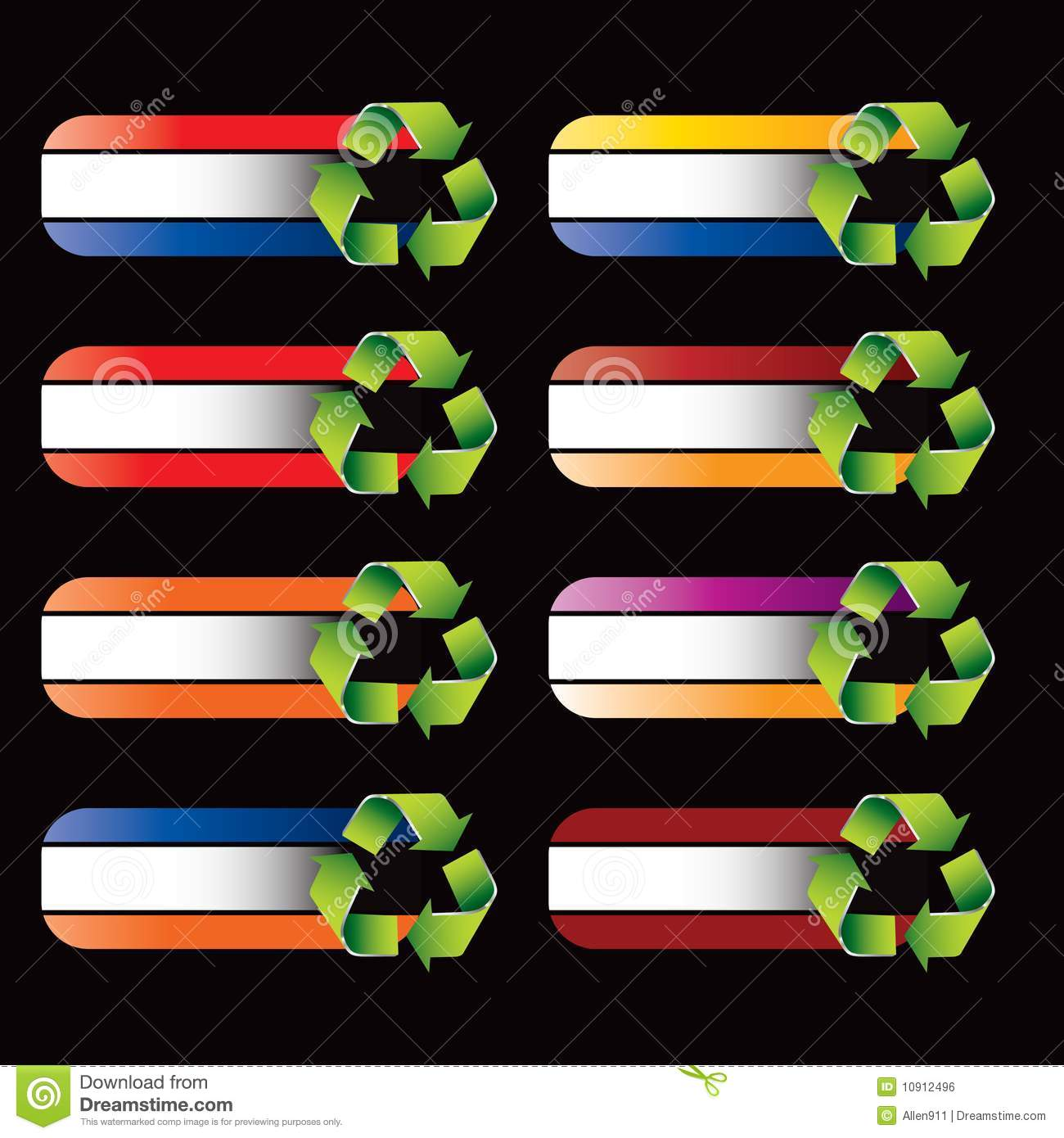Recycle Symbol On Specialized Banners Stock Vector Illustration Of