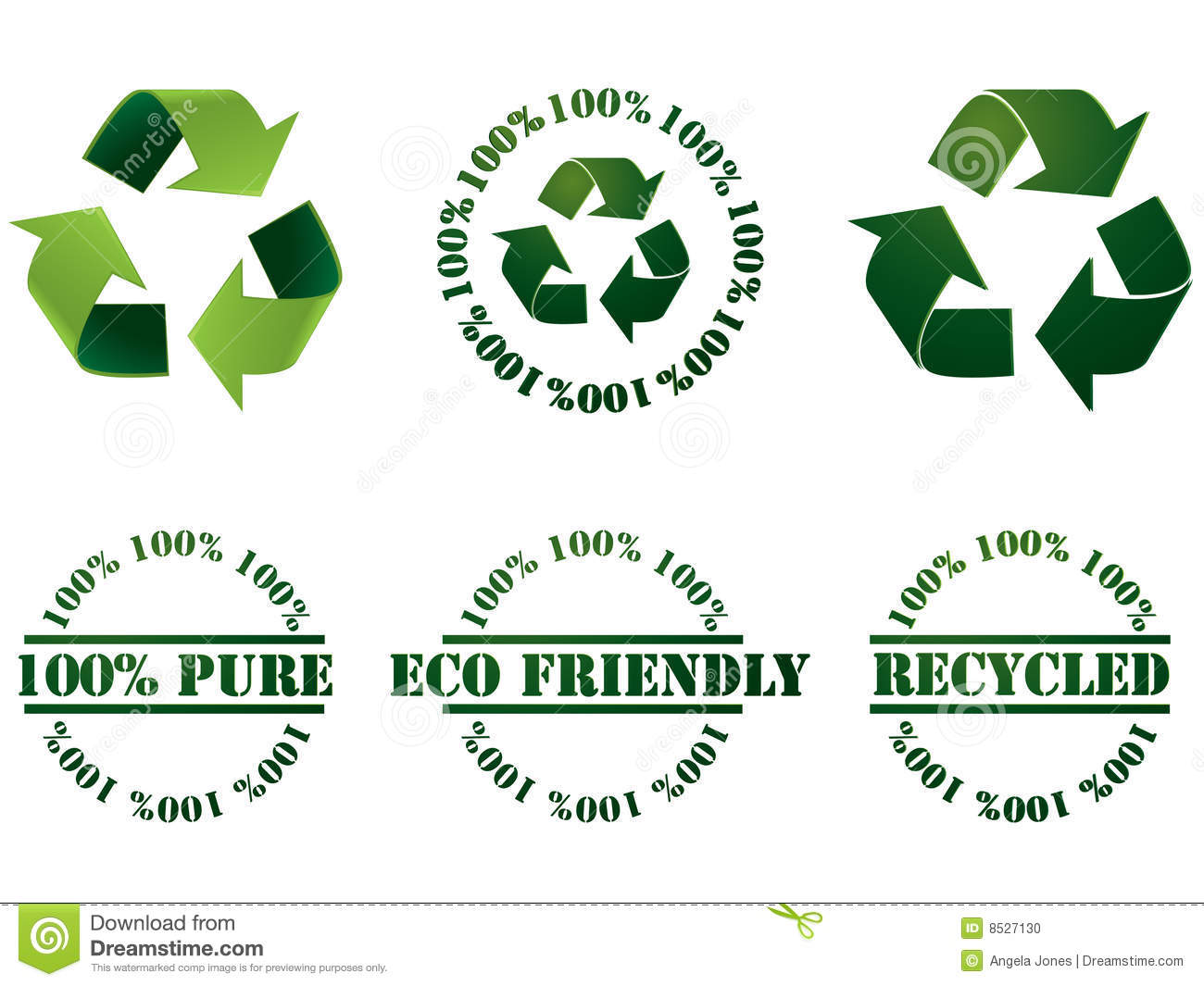 Recycle symbol and stamps stock vector. Illustration of ...