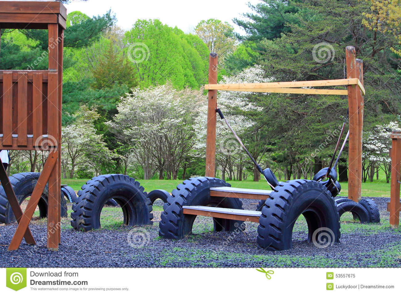 Recycle Tires Playground Stock Photo Image 53557675