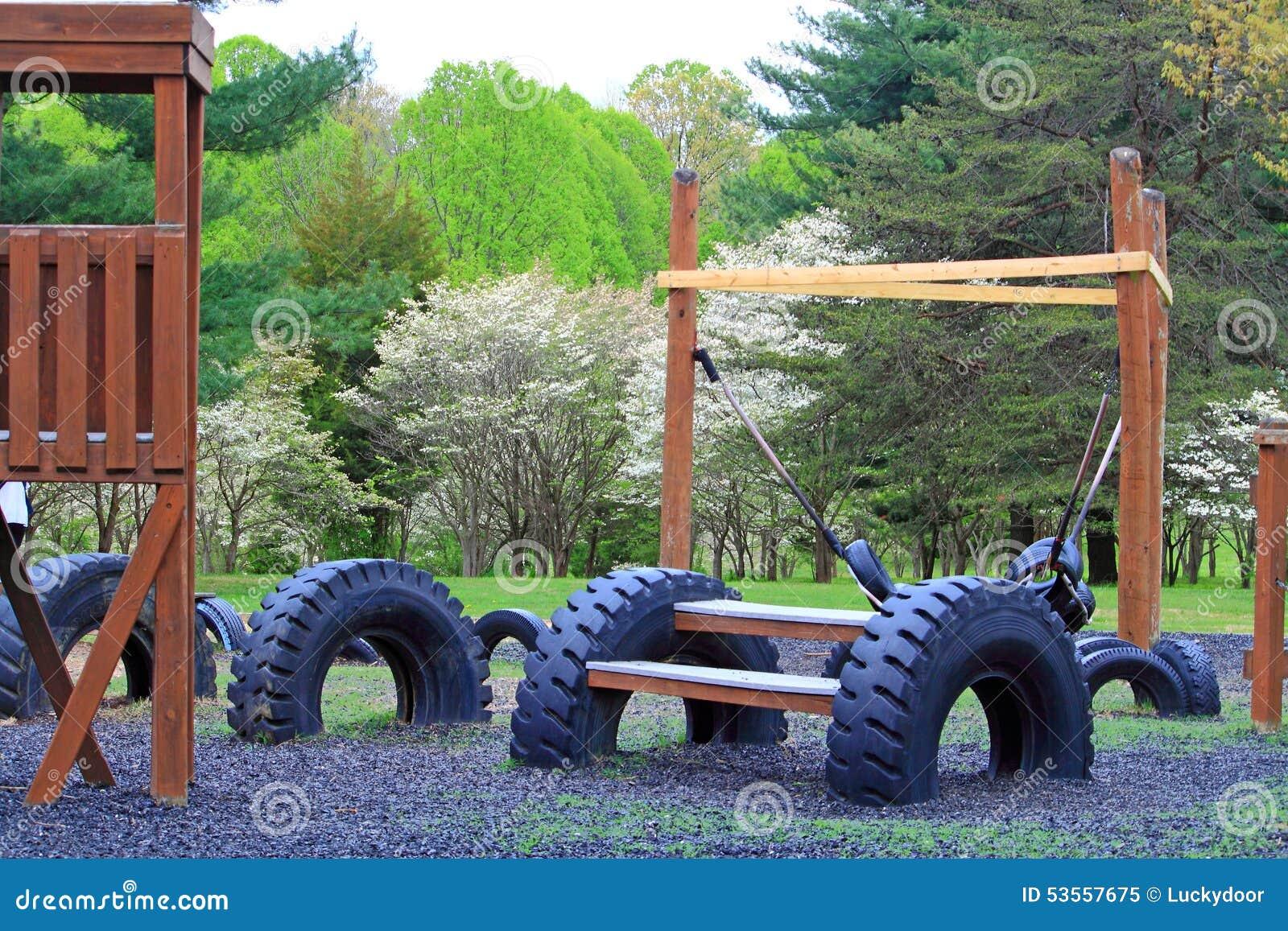 Recycle Tires Playground Stock Photo Image 53557675