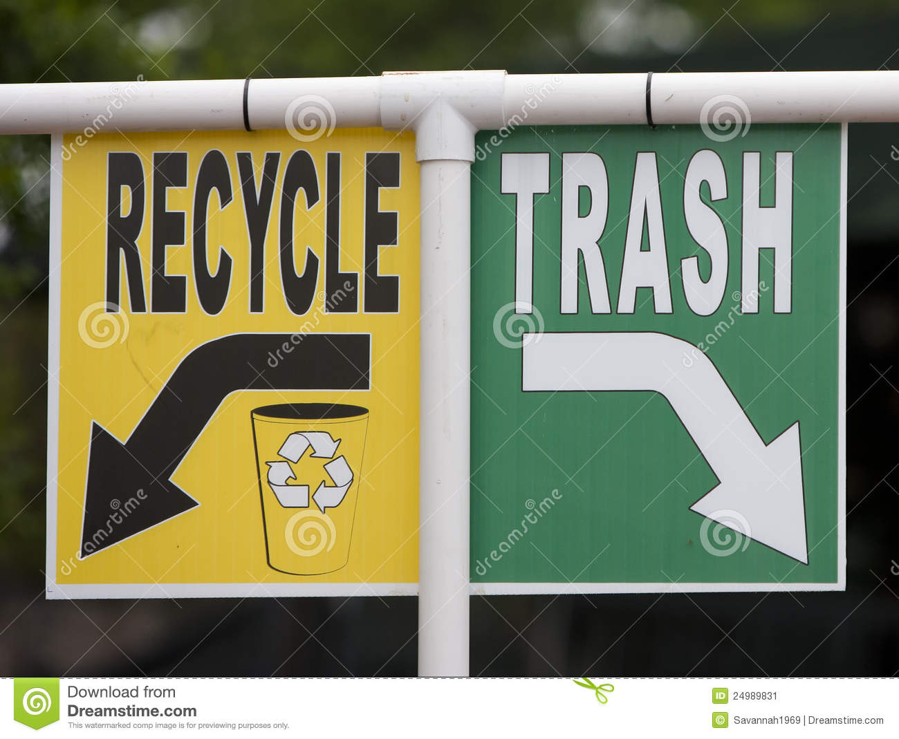 recycle and trash sign stock image image 24989831