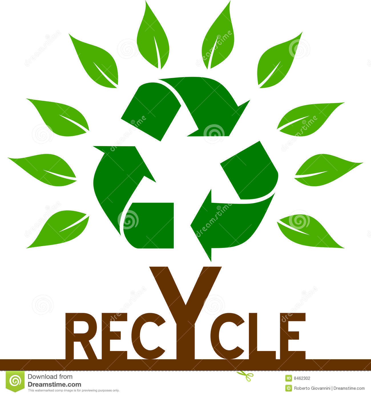 Recycle tree stock vector illustration of earth clip 8462302 recycle tree biocorpaavc Gallery