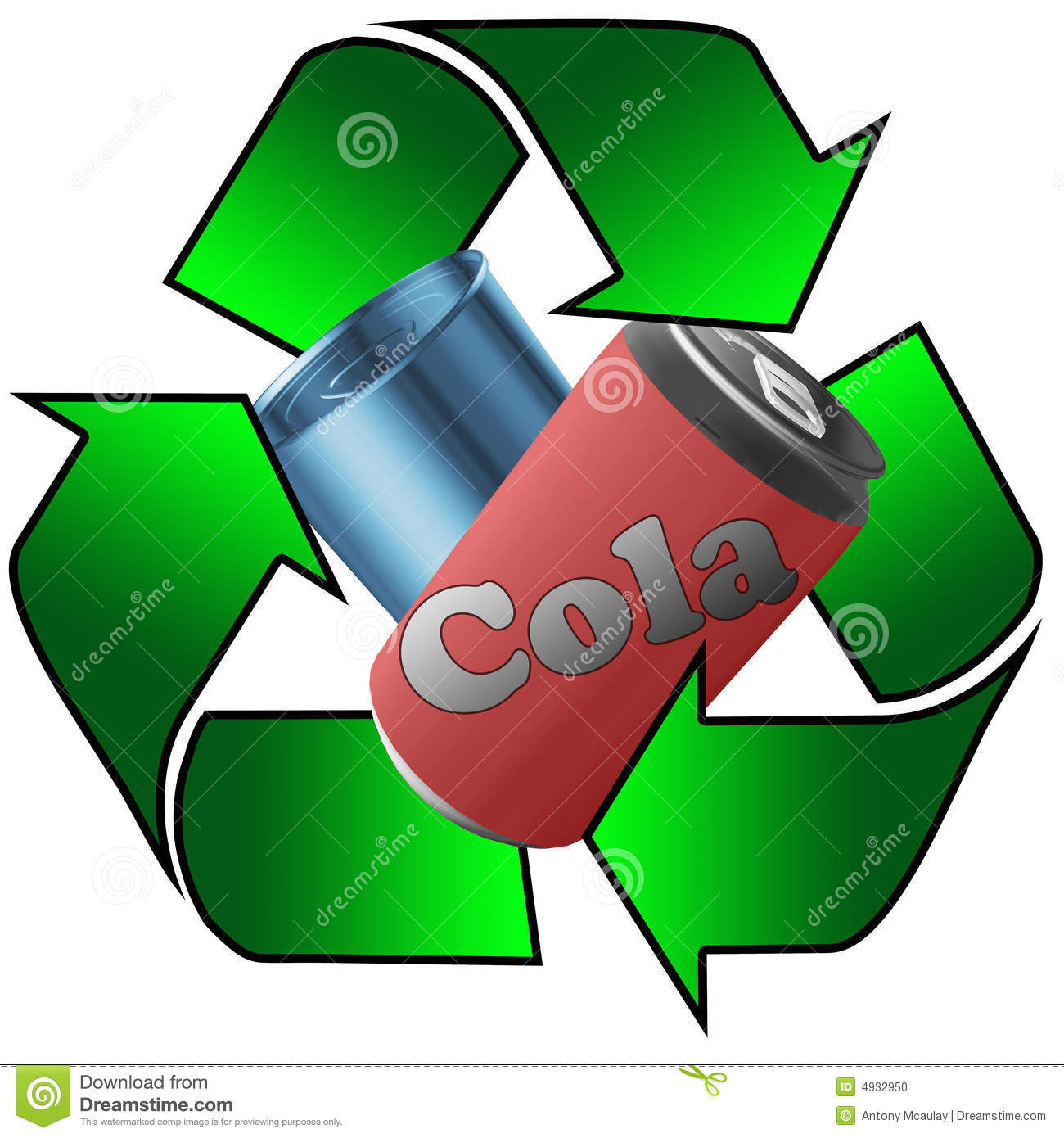 Recycled Metal Cans Stock Photo - Image: 4932950