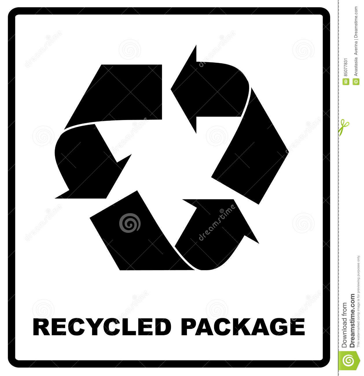 Recycled package symbol or sign of conservation black icon isolated recycled package symbol or sign of conservation black icon isolated on white background vector symbol on the packaging buycottarizona Images