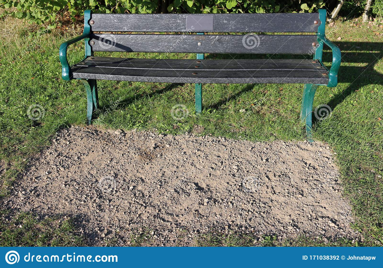 Picture of: Recycled Plastic Seat In A Park Stock Photo Image Of Metal Lawn 171038392