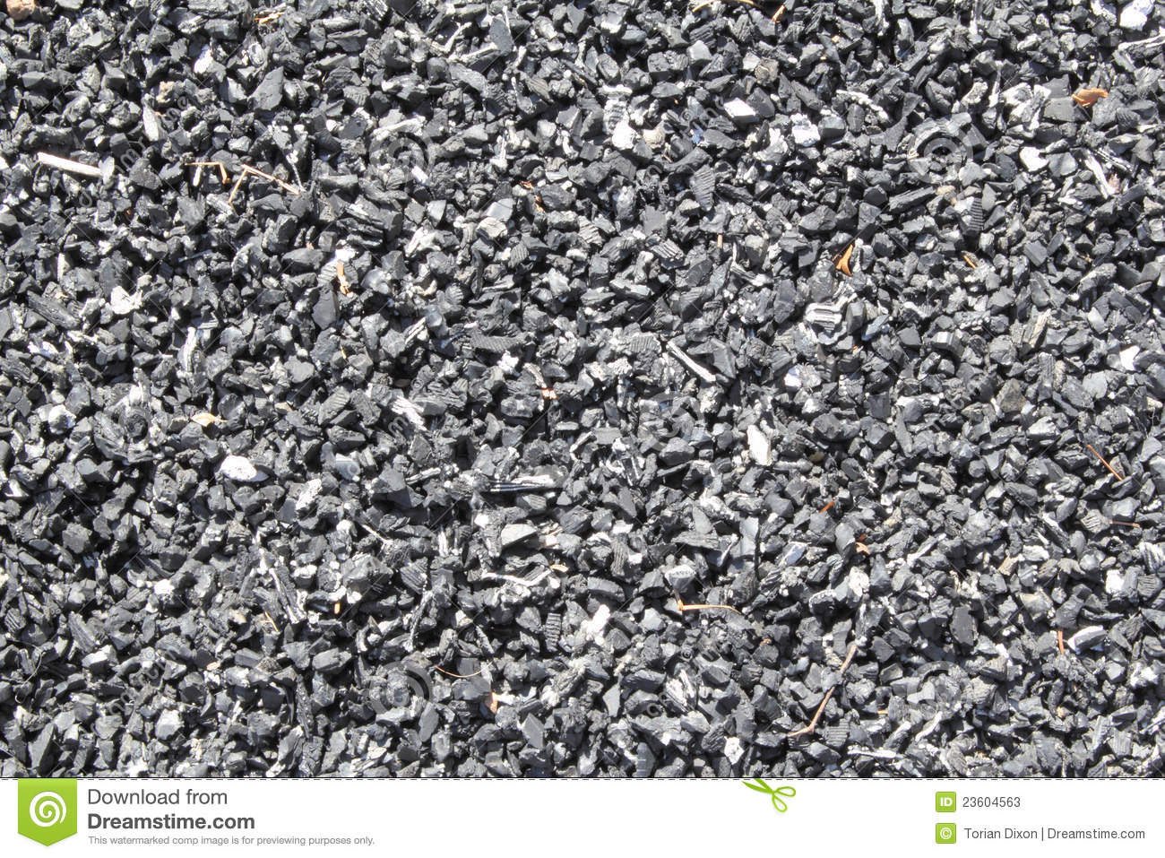 recycled rubber playground mulch stock image image