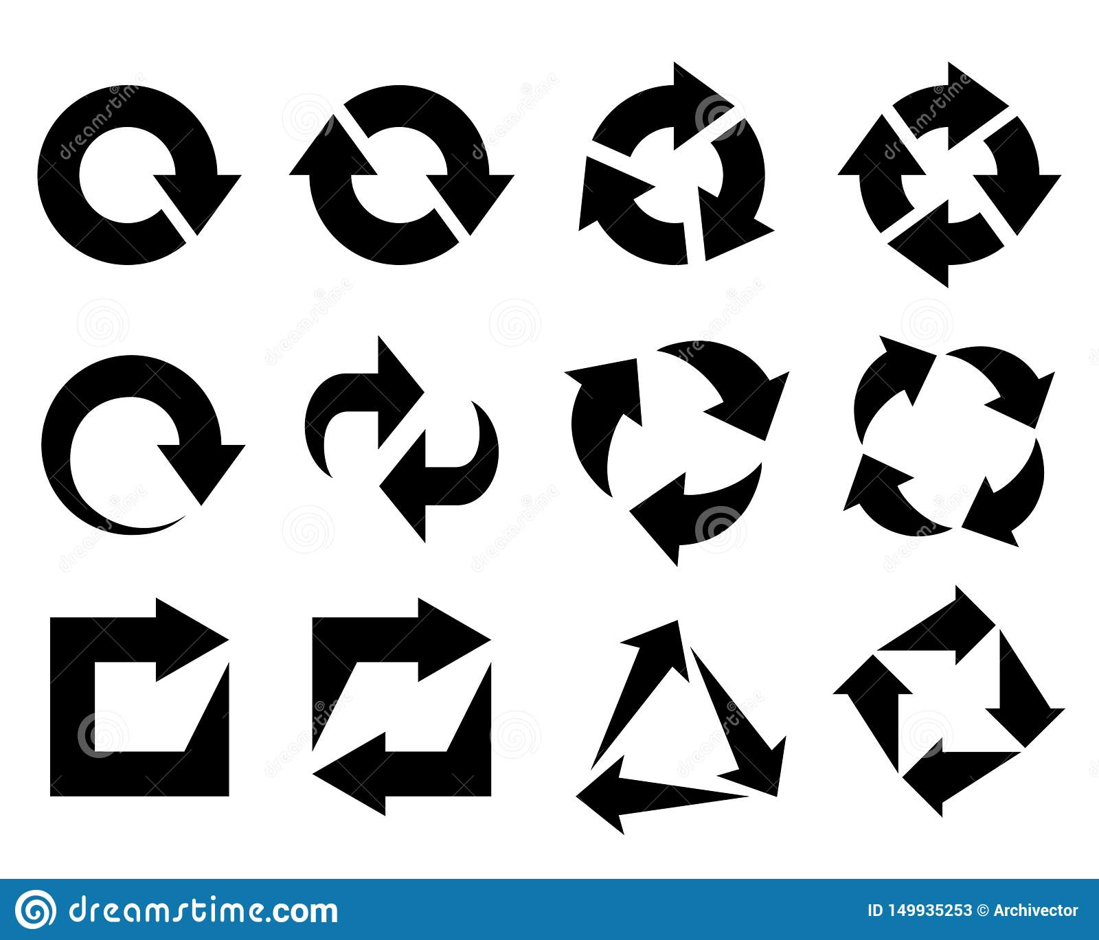 Arrows as symbols recycled element