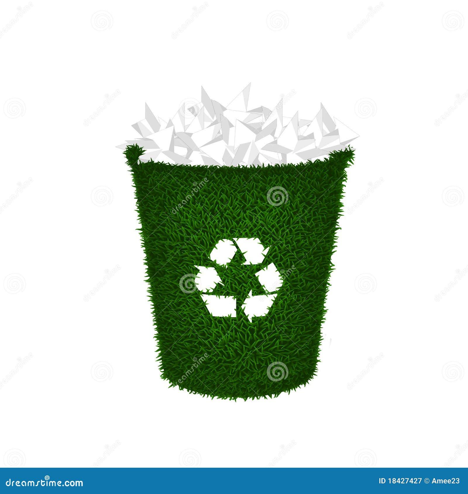 Recycleer container papierafval afval stock illustratie afbeelding 18427427 - Thuis container verkoop ...