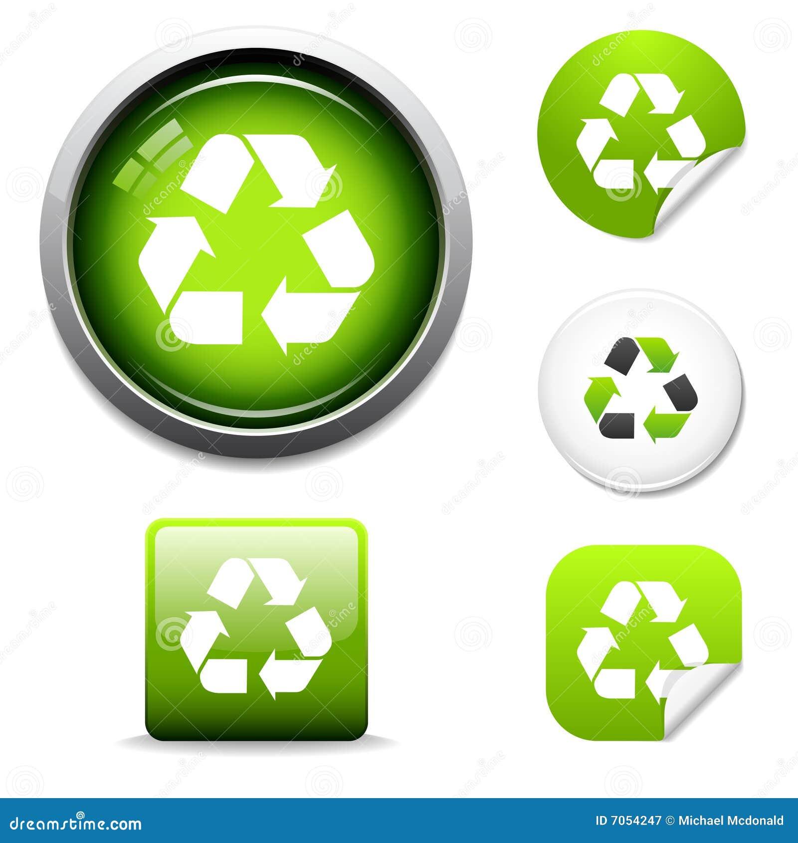 Recycleer pictogrammen en stickers