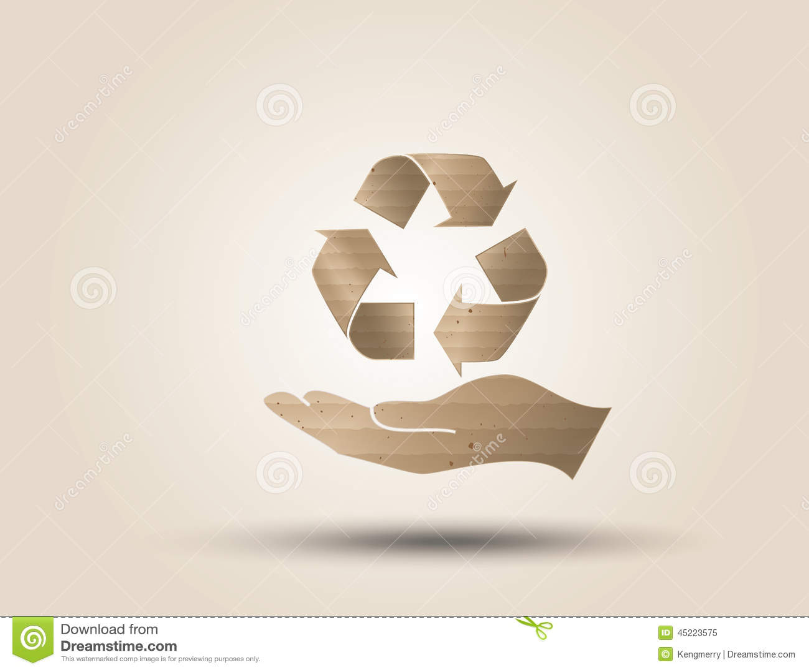 Recycleer symbool of teken van behoud