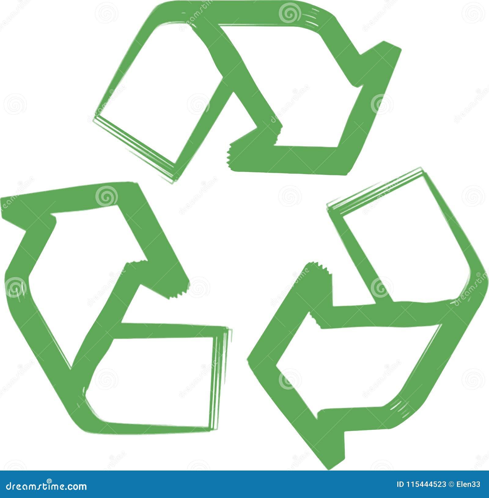Recycleer symbool of teken van behouds groen pictogram