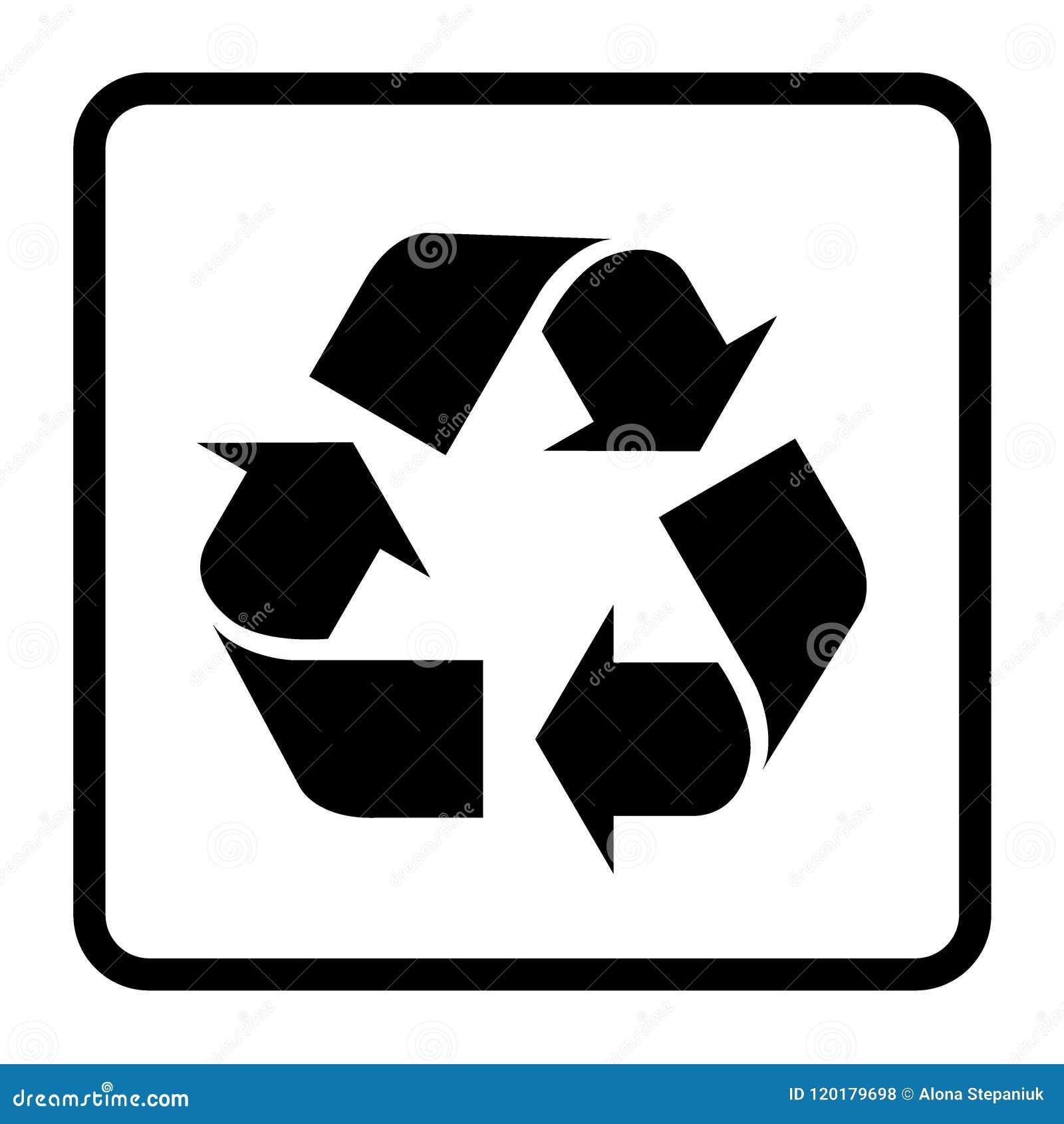 Recycleer zwart teken
