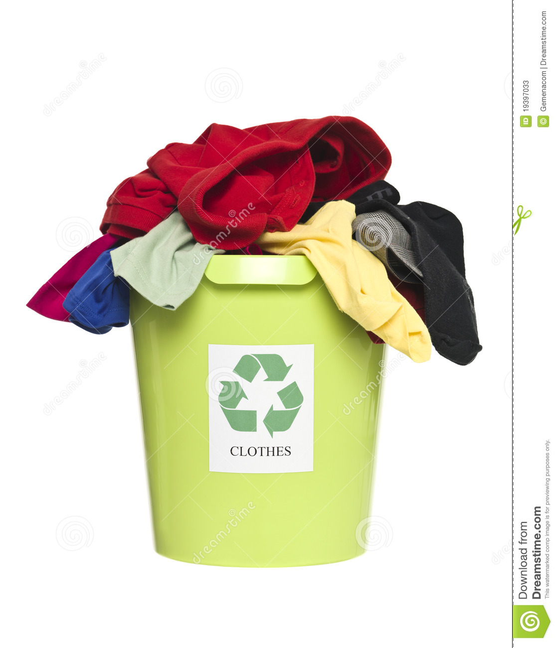 Recycling Bin With Clothes Stock Photos Image 19397033
