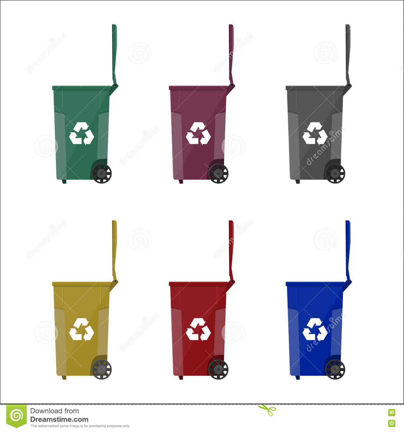 Recycling bins containers for garbage