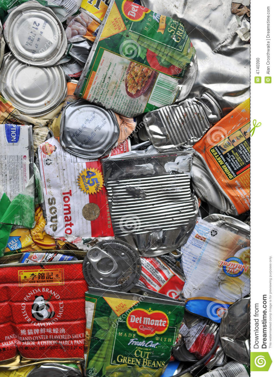 Recycling Cans Editorial Image Image 4740390