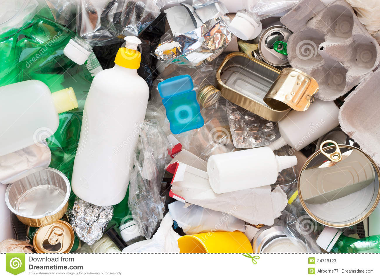 Recycling garbage stock image image of pollution for Waste material products