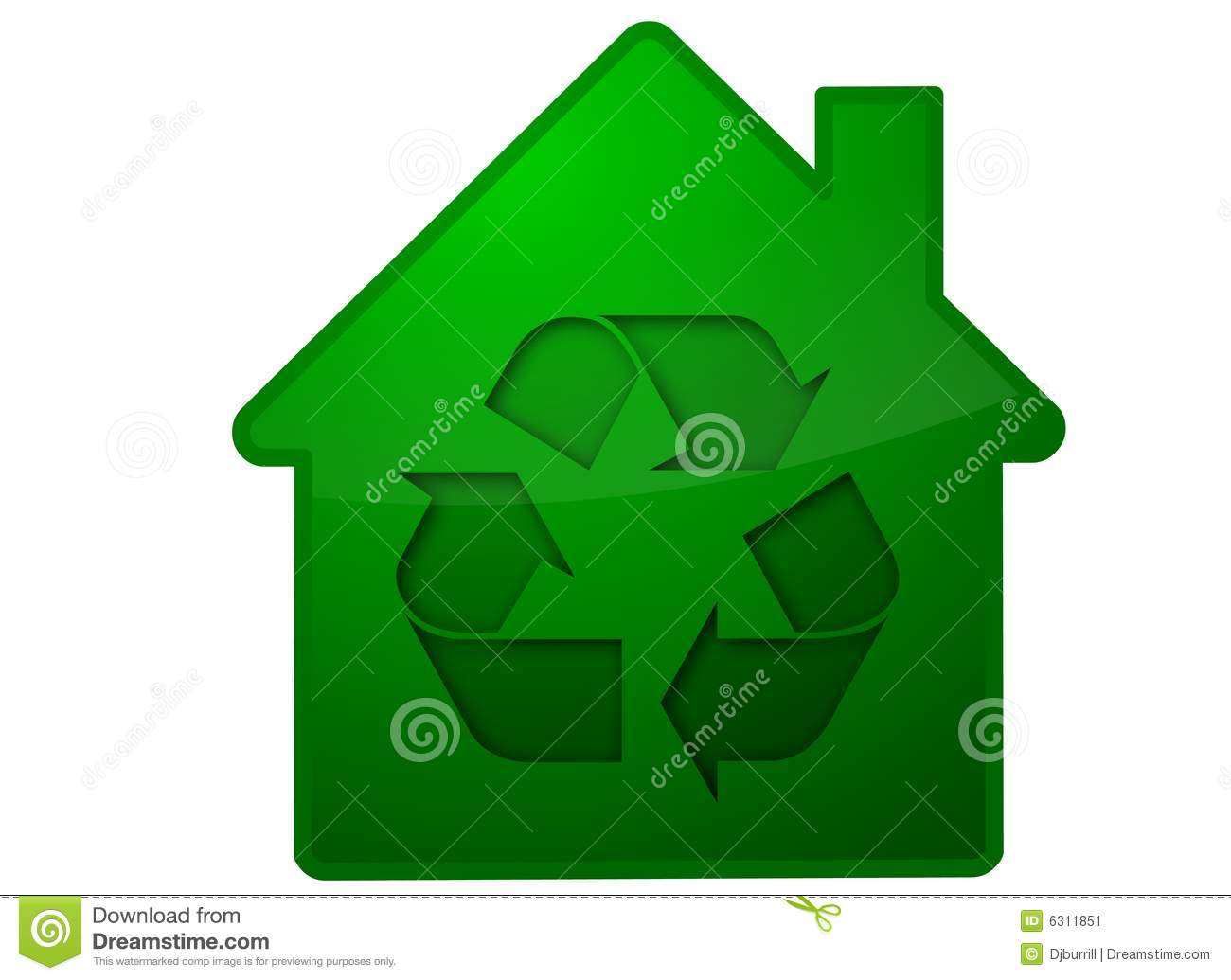 Recycling house symbol