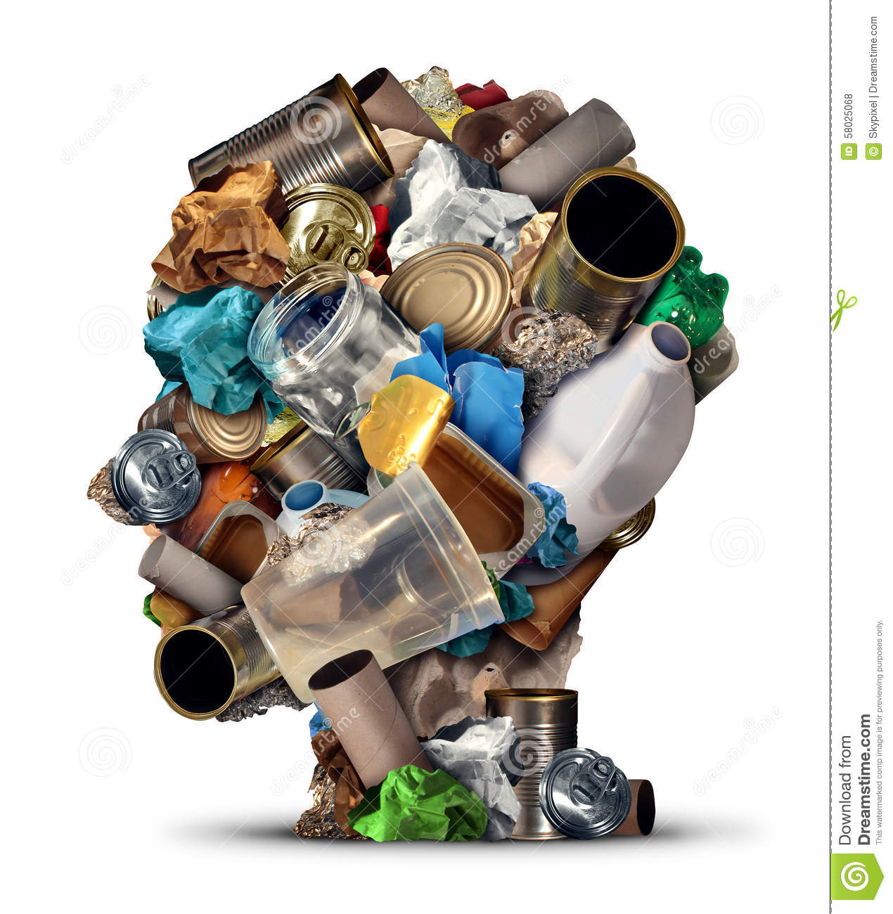 Recycling Ideas Stock Illustration Image 58025068
