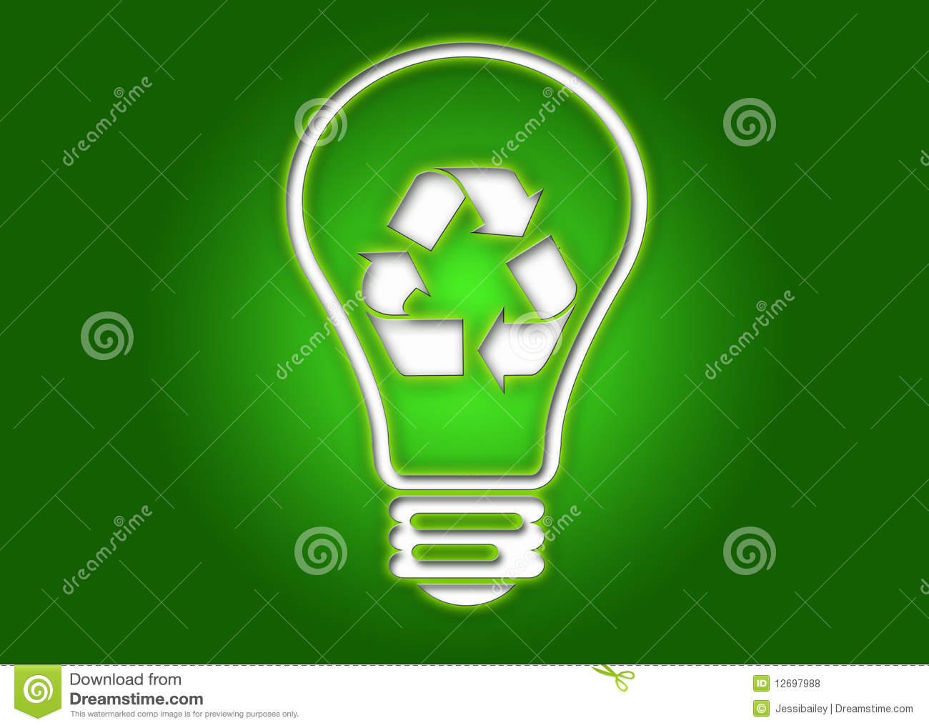 Recycling Light Bulb Royalty Free Stock Photos Image 12697988