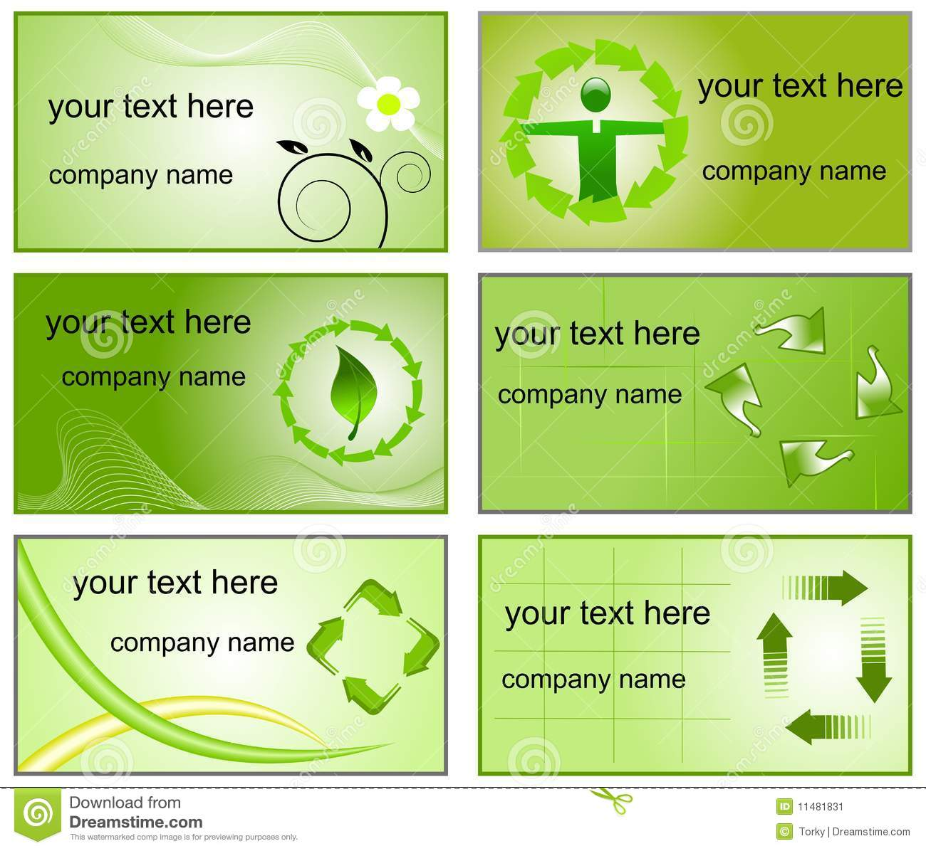 Recycling logos and business cards templates stock vector recycling logos and business cards templates colourmoves