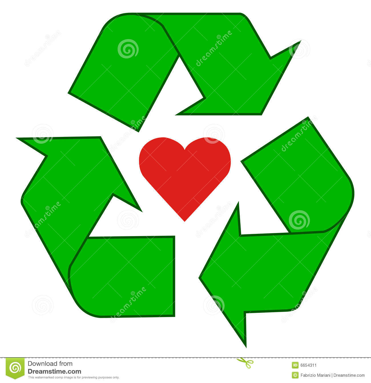 Green Recycle Symbol A green recycling symbol.
