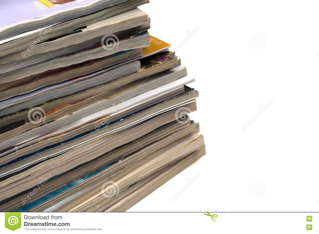 Recycling old magazines royalty free stock photography for How to recycle old magazines