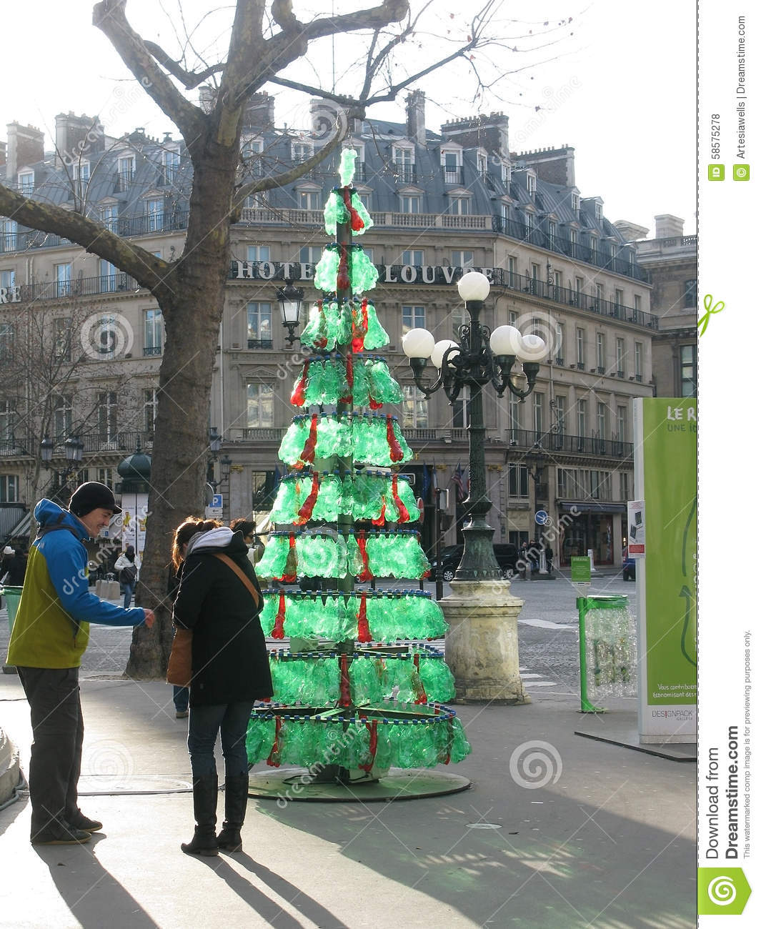 Recycled Plastic Christmas Tree: Recycling Editorial Stock Photo. Image Of Dawn, Christmas